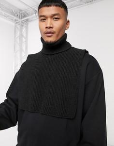 Черный шарф-водолазка ASOS DESIGN