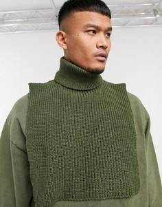 Шарф-водолазка цвета хаки ASOS DESIGN-Зеленый