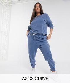 Спортивный костюм из свитшота и джоггеров ASOS DESIGN Curve-Синий