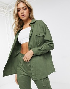 Куртка от комплекта цвета хаки Missguided-Зеленый