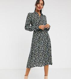 Платье-рубашка с абстрактным звериным принтом Vero Moda Tall-Мульти