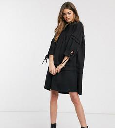 Черное свободное платье с высоким воротом Vero Moda Tall-Черный