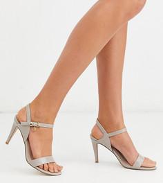 Босоножки на каблуке для широкой стопы Miss KG-Бежевый