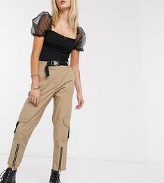Бежевые брюки в стиле милитари с пряжкой Reclaimed Vintage inspired-Бежевый