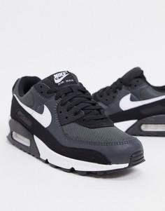 Черно-серые кроссовки Nike Air Max 90 Recraft-Черный