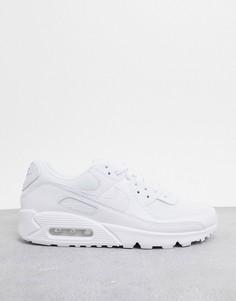 Белые кроссовки Nike Air Max 90 Recraft-Белый