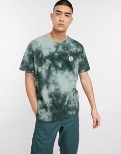 Зеленая футболка с логотипом и принтом тай-дай Nudie Jeans Co Uno-Зеленый