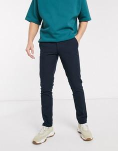Темно-синие узкие брюки Farah-Темно-синий