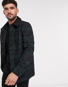 """Куртка в клетку с воротником """"борг"""" Burton Menswear-Зеленый"""