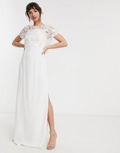 Свадебное платье с отделкой French Connection-Белый