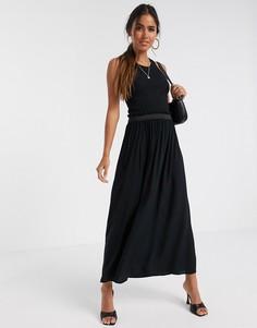Черная юбка макси Vero Moda-Черный