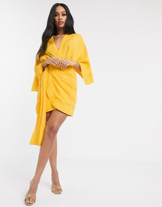 Платье мини с рукавами кимоно Significant Other-Желтый