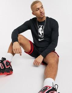 Черный лонгслив с логотипом Nike Basketball NBA