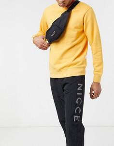 Черная сумка-кошелек на пояс с маленьким логотипом Nicce-Черный