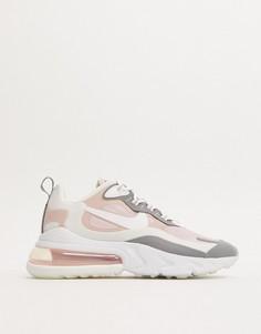 Розово-серые кроссовки Nike Air Max 270 React-Розовый