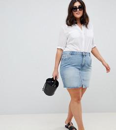 Голубая джинсовая мини-юбка ASOS DESIGN Curve-Синий
