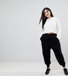 Трикотажные гаремные брюки ASOS DESIGN Curve-Черный