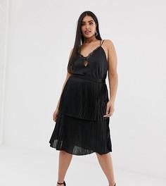 Плиссированная многоярусная юбка миди Unique21 Hero-Черный