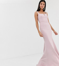 Розовое платье макси с квадратным вырезом Jarlo Tall-Розовый