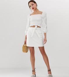 Джинсовая мини-юбка с поясом Vero Moda Tall-Черный