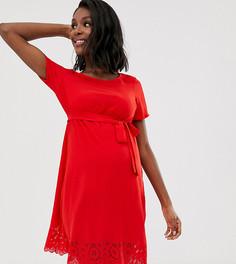 Платье с вырезами Mamalicious-Красный Mama.Licious