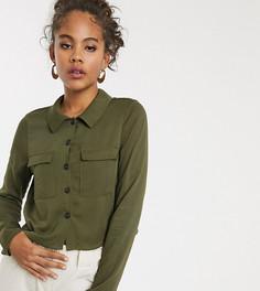Свободная рубашка Vero Moda Tall-Зеленый
