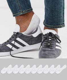 Набор из 10 пар белых невидимых носков ASOS DESIGN - Скидка-Белый