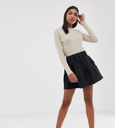 Вельветовая юбка Minimum-Черный