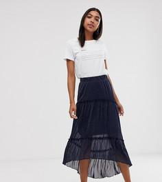 Ярусная юбка макси Minimum-Темно-синий