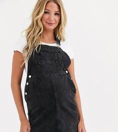 Черный джинсовый сарафан ASOS DESIGN Maternity