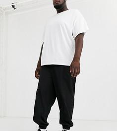Черные зауженные джоггеры ASOS WHITE Plus-Черный