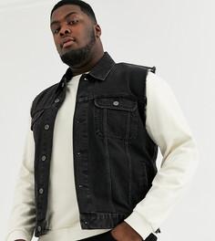 Черная джинсовая куртка без рукавов ASOS DESIGN Plus-Черный
