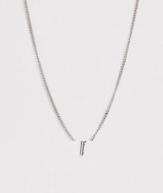 Серебристое ожерелье с подвеской в виде ключа ASOS DESIGN-Серебряный