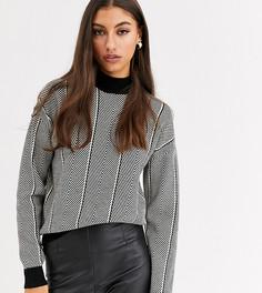 Серый джемпер с рисунком Vero Moda Tall-Мульти