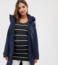 Дутая куртка 2 в 1 с отстегиваемой вставкой на молнии Mamalicious-Темно-синий Mama.Licious