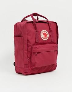Сливовый рюкзак объемом 16 л Fjallraven Kanken-Красный