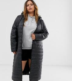 Длинная дутая куртка Junarose-Черный