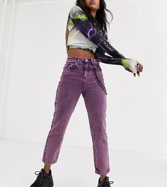 Фиолетовые прямые джинсы с цепочкой COLLUSION x005-Фиолетовый