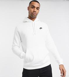 Худи белого цвета Nike Tall Club-Белый
