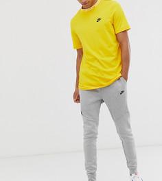 Серые джоггеры с флисом и манжетами Nike Tall Tech-Серый