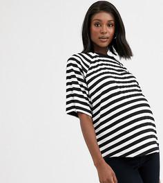 Свободная футболка в полоску ASOS DESIGN Maternity-Мульти
