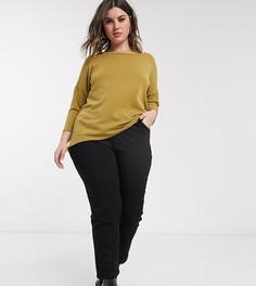 Черные джинсы-сигареты с моделирующим эффектом ASOS DESIGN Curve-Черный