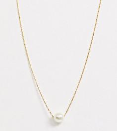 Позолоченное ожерелье с искусственным жемчугом Orelia-Золотой