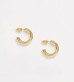 Позолоченные серьги-кольца Orelia-Золотой