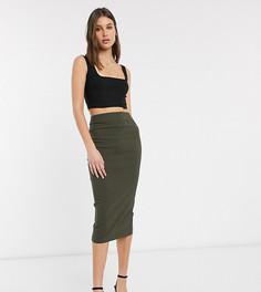 Удлиненная юбка-карандаш с завышенной талией ASOS DESIGN Tall-Зеленый