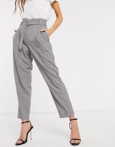 Серые строгие брюки с поясом Y.A.S-Серый