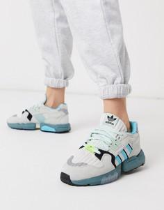 Кроссовки белого/синего цвета adidas Originals ZX Torsion-Мульти