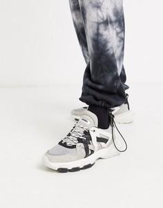 Черно-белые кроссовки Bronx-Мульти