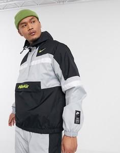 Серая куртка с короткой молнией Nike Air-Серый