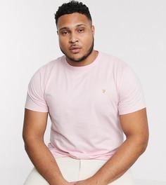 Розовая приталенная футболка Farah Dennis-Розовый